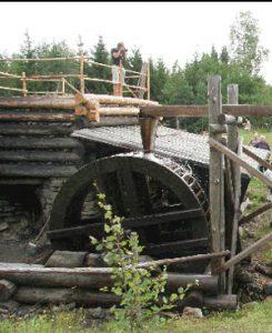 Reconstruction of medieval blastfurnace (Lapphyttan, Sweden)