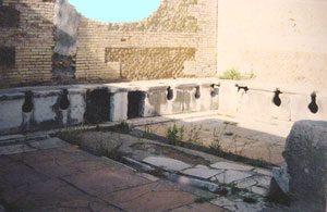 Public latrine at Ostia (Thanks to Lynn Lichtenbaum)