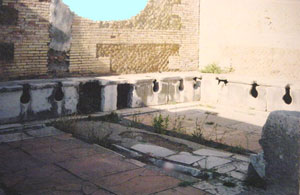 Public latrine at Ostia (Thanks to Lynn Lichtenbaum)