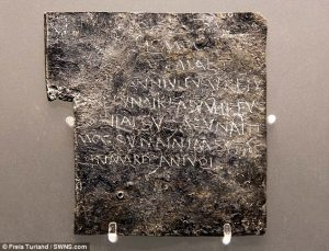 A lead curse tablet from ancient Rome