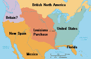 Spain Archives Quatrus Study Guides - Map of us after louisiana purchase