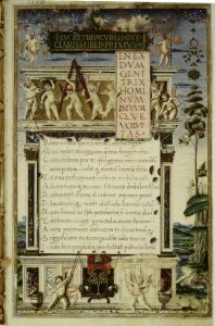A medieval manuscript copy of Lucretius' De Rerum Natura (On the Nature of Things)