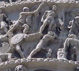 Roman soldiers on the Column of Marcus Aurelius, Rome