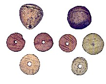 Marked counters representingolive oilandcloth