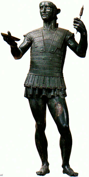 "So-called ""Mars of Todi"", an Etruscan statue from about 500 BC"