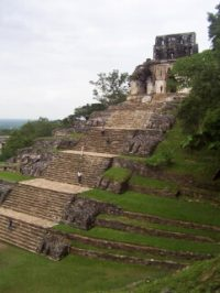 Maya pyramid at Tonina (ca. 700 AD)