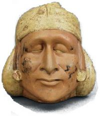 Moche portrait of a blind man, 400-500 AD (thanks to Oberlin College)