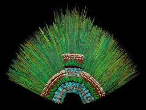 Montezuma II's headdress made of feathers