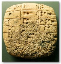 Sumerian multiplication table (2700 BC)