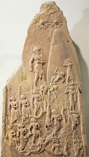 Stele of Naram-Sin (Louvre, Paris)Naram-Sin is walking up themountain, trampling his enemies.