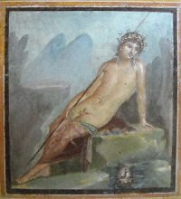 Narcissus and his pond (Third Style Roman painting from Pompeii, about 79 AD)