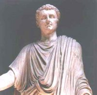 Nerva: a white man in a toga