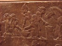 A meal in ancient Nineveh (about 700 BC)