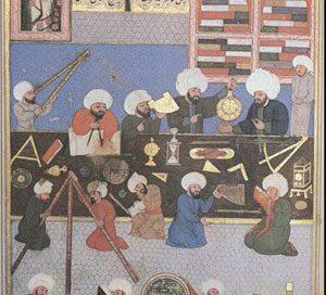 Taqi al-Din in his observatory