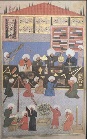 Taqi al-Din in his observatory