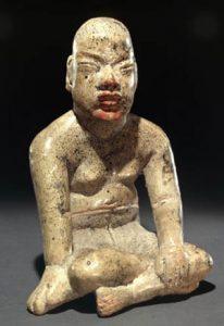 Olmec clay statue ca. 1100-500 BC
