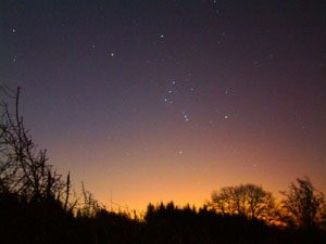 Constellation of Orion; thanks to Douglas Cooper