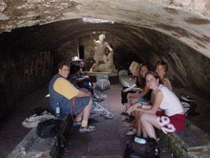An underground mithraeum in Ostia