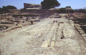 Street drain in a Roman street