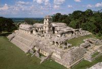 Maya royal palace at Palenque, Chiapas, Mexico (600s-700s AD)