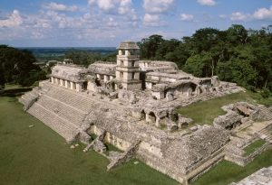 Maya royal palace at Palenque, Chiapas, Mexico (600s-700s AD)