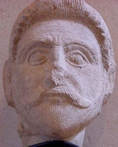 A Parthian aristocrat (note he has the same beard as Darius' archers on the Persian frieze)