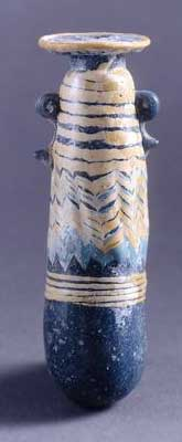 Core-formed Phoenician glass bottle (400s BC)