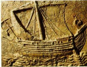 Phoenician ship, about 100 AD (National Museum, Beirut)