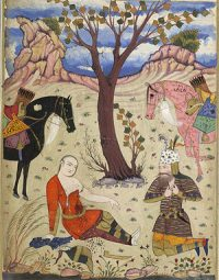 The death of Sohrab (Iranian painting)