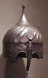 Safavid steel helmet (Iran, 1500s AD)