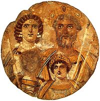 The Roman emperor Septimius Severus and his family