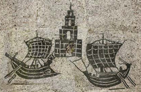 More ships with square sails(also Ostia, 100s AD)