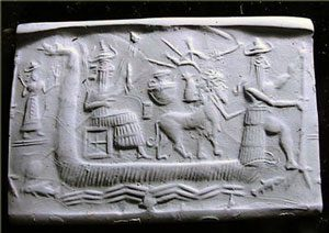 Sumerian reed boat (ca. 2700 BC)