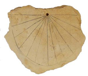 Egyptian sundial (Valley of the Kings, ca. 1300 BC)