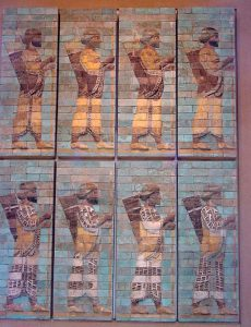 Molded brick relief of Persian archers, from Susa in the 400s BC