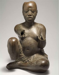 Copper sculpture from West Africa (Tada, Nigeria ca. 1300 AD).