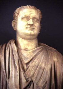 The Roman emperor Titus, with his father's broad face.