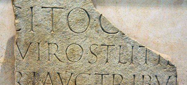 The tombstone of Tacitus: a Roman inscription, broken off