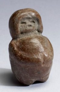 Sculpture of a pregnant woman, from the Valdivia culture in what's now Ecuador