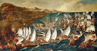 Venice and the Ottoman Fleet in a naval battle (1661)