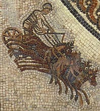 Roman chariot mosaic from Vienne, France - Roman chariot-racing - Circus games