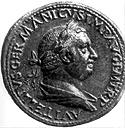 The Roman emperor Vitellius, the third of the four emperors of 69 AD