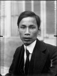 Ho Chi Minh, the leader of the Vietnamese independence movement