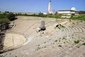A view of El Jem amphitheater in southern Tunisia
