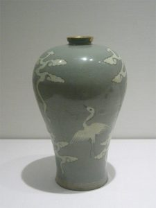 Celadon pottery from Korea (about 1000 AD)