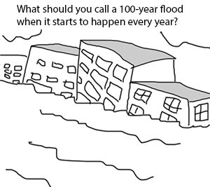 Cartoon: what should you call a 100-year flood when it starts to happen every year?