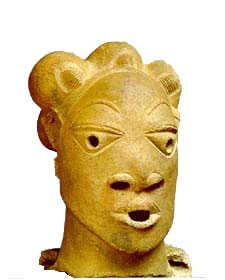Head of a woman. Nok culture, Nigeria, ca. 500 BC-200 AD(National Museum, Lagos)