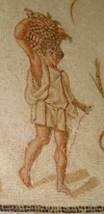 A North African man carrying vegetables (Carthage, ca. 300 AD, now in Bardo museum)