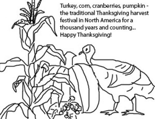 Where do Thanksgiving foods come from?